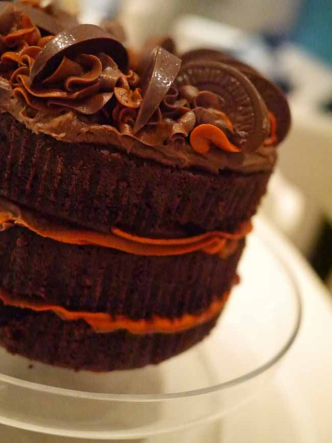 Chocolate Orange Layer Cake - Taming Twins
